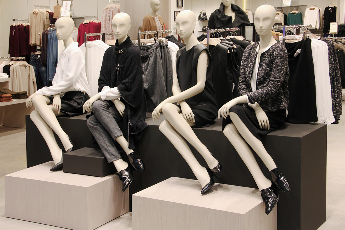 Mannequins in a clothing store