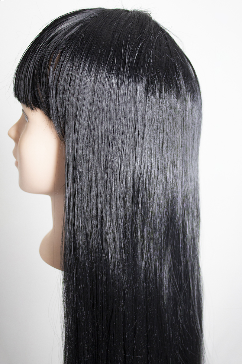 detail of refurbished wig