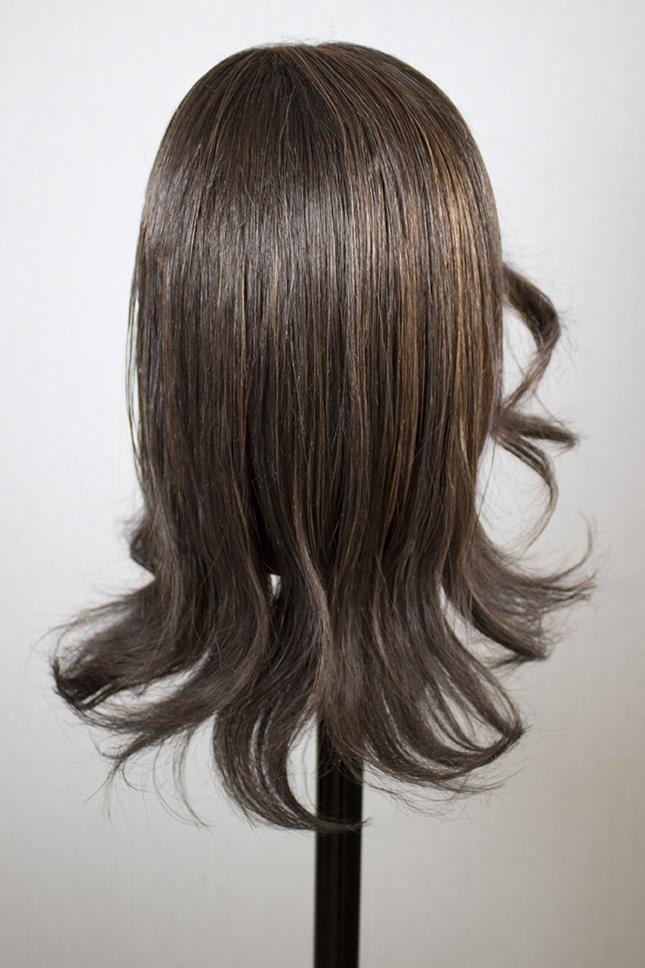 brown wig after