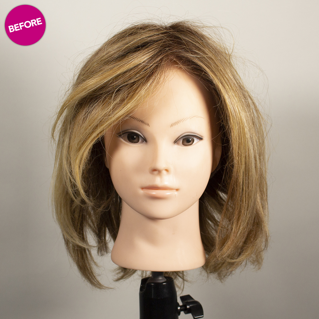 before refurbished wig