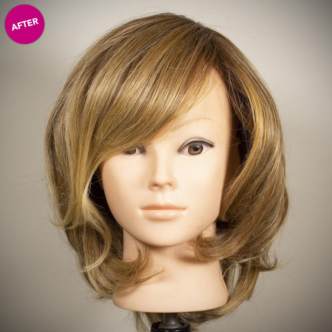 front of refurbished wig