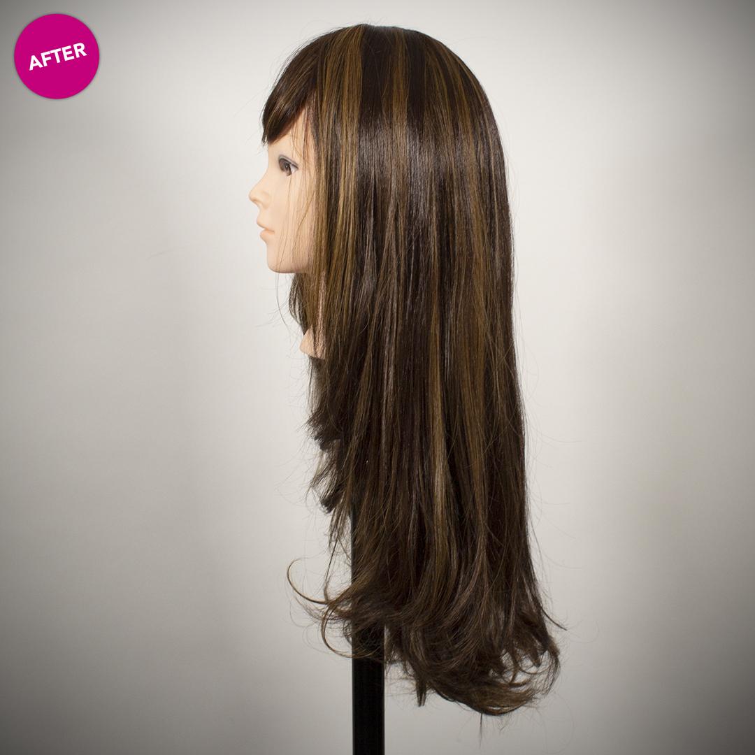 side of refurbished wig