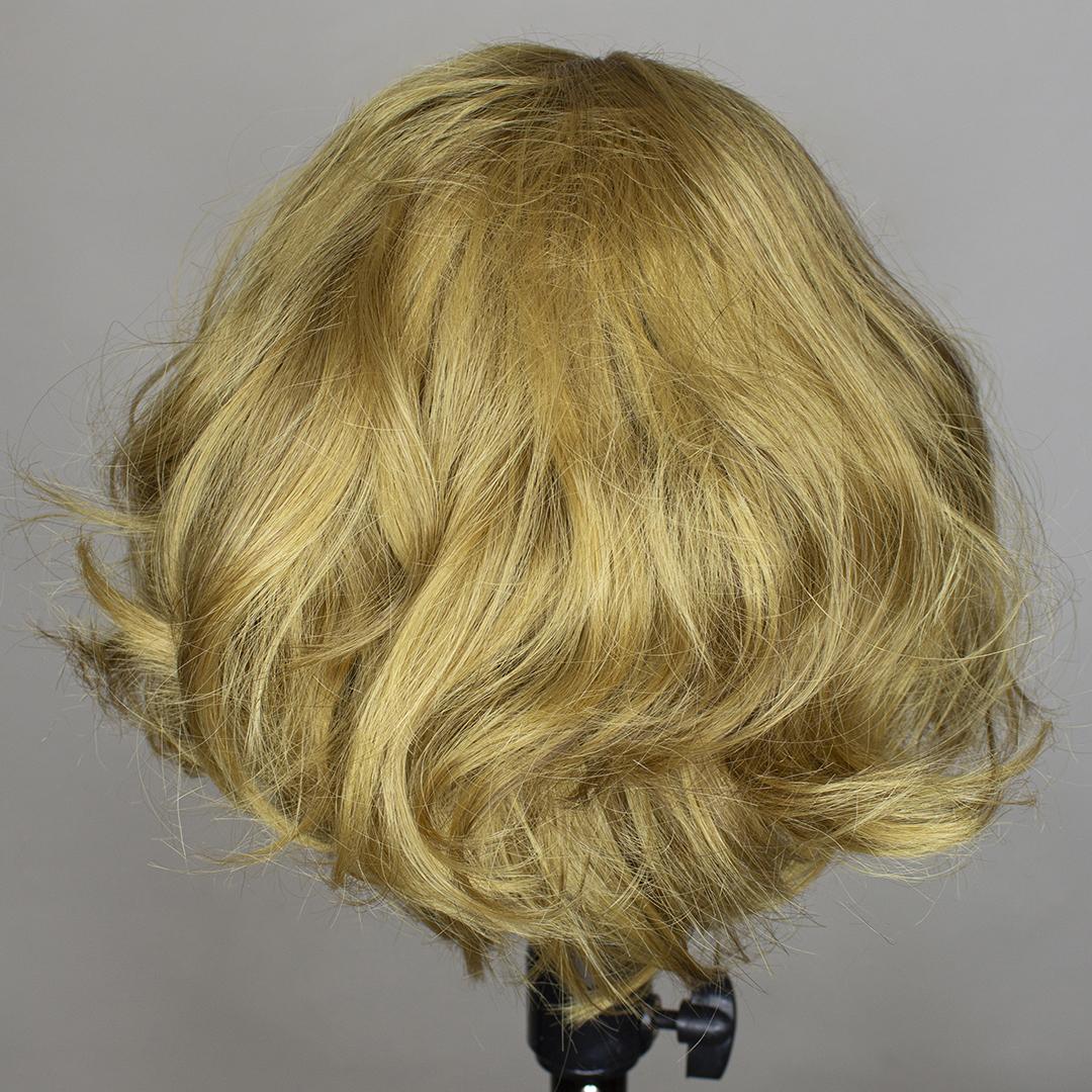 back of refurbished wig